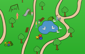 SpaceDraft of a park event