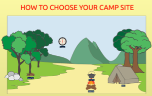 SpaceDraft your Camp sites