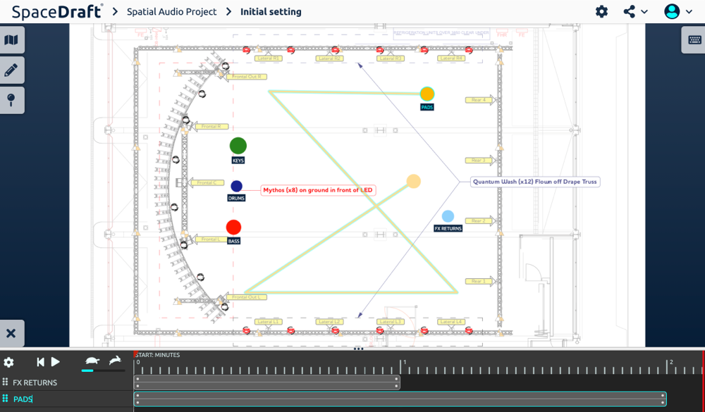 Planning Spatial Audio Installations using SpaceDraft